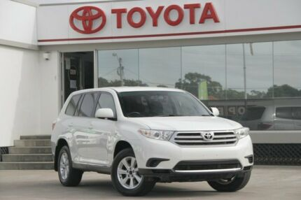 2013 Toyota Kluger GSU40R MY12 KX-R 2WD White 5 Speed Sports Automatic Wagon Old Guildford Fairfield Area Preview
