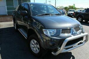 2012 Mitsubishi Triton MN MY12 GL-R Double Cab Grey 5 Speed Manual Utility Wakerley Brisbane South East Preview