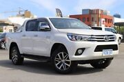 2016 Toyota Hilux GUN126R SR5 (4x4) Crystal Pearl 6 Speed Automatic Dual Cab Utility Northbridge Perth City Area Preview