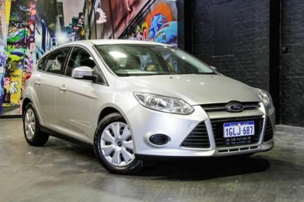 2015 Ford Focus LW MKII MY14 Ambiente PwrShift Silver 6 Speed Sports Automatic Dual Clutch Hatchback