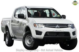 2012 Mitsubishi Triton MN MY12 GLX Double Cab White 4 Speed Automatic Utility Cannington Canning Area Preview