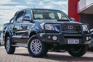 2013 Toyota Hilux KUN26R MY12 SR5 Double Cab Black 4 Speed Automatic Utility Midland Swan Area Preview