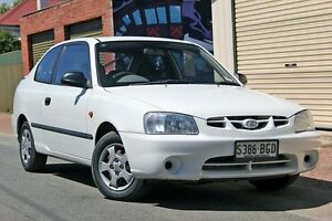 2002 Hyundai Accent LC GL White 4 Speed Automatic Hatchback Glenelg Holdfast Bay Preview