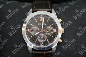 **BULOVA** 98A142 Chronograph Men's Watch with Box