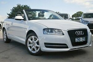 2012 Audi A3 8P MY12 Attraction S tronic White 7 Speed Sports Automatic Dual Clutch Convertible Nunawading Whitehorse Area Preview