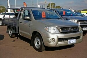 2008 Toyota Hilux GGN15R MY08 SR 4x2 Silver 5 Speed Manual Cab Chassis
