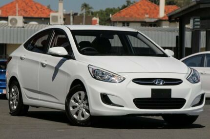 2016 Hyundai Accent RB4 MY16 Active White 6 Speed Constant Variable Sedan