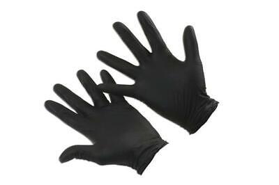 Grippaz Black Nitrile Gloves Box Large 50 Pieces 25 Pairs 37306
