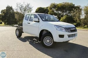2016 Isuzu D-MAX MY15 SX Space Cab Splash White 5 Speed Sports Automatic Cab Chassis Hillman Rockingham Area Preview