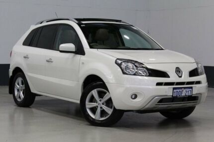 2011 Renault Koleos H45 MY10 Privilege (4x4) Pearl White Continuous Variable Wagon Bentley Canning Area Preview