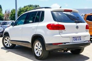 2014 Volkswagen Tiguan 5N MY14 132TSI DSG 4MOTION Pacific White 7 Speed Sports Automatic Dual Clutch Victoria Park Victoria Park Area Preview