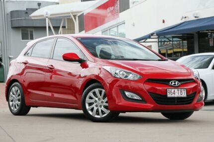 2013 Hyundai i30 GD Active Red/Black 6 Speed Manual Hatchback Hillcrest Logan Area Preview