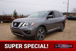 2018 Nissan Pathfinder 4X4 PLATINUM V6 DUAL HEADREST DVD, 20 INC