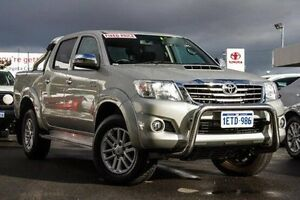 2014 Toyota Hilux KUN26R MY14 SR5 Double Cab Sterling Silver 5 Speed Automatic Utility Glendalough Stirling Area Preview