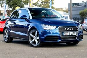 2010 Audi A1 8X MY11 Attraction S Tronic Blue 7 Speed Sports Automatic Dual Clutch Hatchback Condell Park Bankstown Area Preview