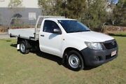 2011 Toyota Hilux TGN16R MY10 Workmate 4x2 White 5 Speed Manual Cab Chassis Ormeau Gold Coast North Preview