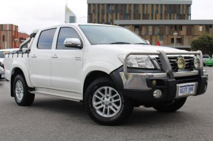 2012 Toyota Hilux GGN25R MY12 SR5 Double Cab Glacier White 5 Speed Automatic Utility