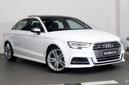 2018 Audi S3 8V MY18 S tronic quattro White 7 Speed Sports Automatic Dual Clutch Sedan Zetland Inner Sydney Preview