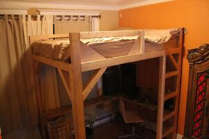 lit mezzanine sur mesure, superposé  mezanine bunk bed