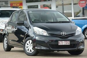 2013 Toyota Yaris NCP130R YR Black 5 Speed Manual Hatchback Woolloongabba Brisbane South West Preview