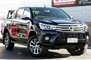2015 Toyota Hilux GUN126R SR5 Double Cab Eclipse Black 6 Speed Manual Utility Christies Beach Morphett Vale Area Preview