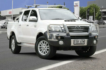 2013 Toyota Hilux KUN26R MY12 SR5 Double Cab Glacier White 4 Speed Automatic Utility Adelaide CBD Adelaide City Preview