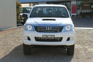 2012 Toyota Hilux KUN26R MY12 SR (4x4) Glacier White 5 Speed Manual Dual Cab Pick-up Windradyne Bathurst City Preview