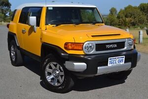 2016 Toyota FJ Cruiser GSJ15R MY14 Hornet Yellow & White Roof 5 Speed Automatic Wagon Claremont Nedlands Area Preview