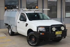 2014 Ford Ranger PX XL 3.2 (4x4) White 6 Speed Automatic Cab Chassis Blacktown Blacktown Area Preview