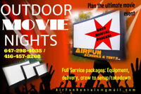 INFLATABLE CINEMA SCREENS for RENT - GTA