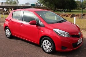 2014 Toyota Yaris NCP130R YR Cherry 4 Speed Automatic Hatchback The Gardens Darwin City Preview