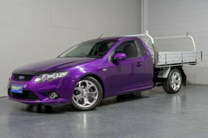 2010 Ford Falcon FG XR6 Purple 5 Speed Auto Seq Sportshift Cab Chassis Woodridge Logan Area Preview