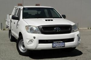2011 Toyota Hilux SR White 5 Speed Manual Dual Cab Beckenham Gosnells Area Preview