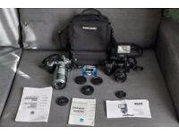Minolta film SLRs, lenses and flash bundle