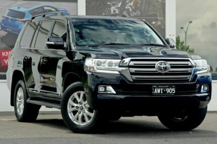 2017 Toyota Landcruiser VDJ200R Sahara Black 6 Speed Sports Automatic Wagon Ferntree Gully Knox Area Preview