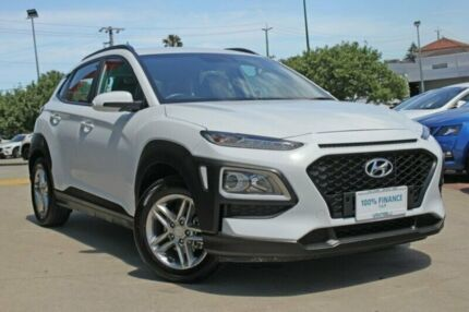 2018 Hyundai Kona OS MY18 Active 2WD White 6 Speed Sports Automatic Wagon Victoria Park Victoria Park Area Preview