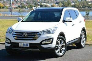 2013 Hyundai Santa Fe DM MY14 Highlander White 6 Speed Sports Automatic Wagon Derwent Park Glenorchy Area Preview
