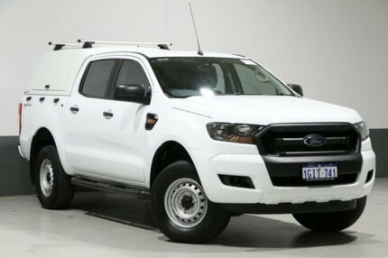 2017 Ford Ranger PX Mkii MY17 Update XL 2.2 HI-Rider (4x2) White 6 Speed Automatic Crew Cab Pickup Bentley Canning Area Preview