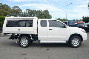 2014 Toyota Hilux KUN26R MY14 SR Xtra Cab Glacier White 5 Speed Manual Cab Chassis Acacia Ridge Brisbane South West Preview