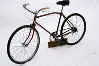 Vintage Antique Fleetwing camelback Cruiser bicycle, c. 1940's