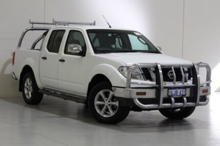 2012 Nissan Navara D40 MY12 ST-X (4x4) White 7 Speed Automatic Dual Cab Pick-up St James Victoria Park Area Preview