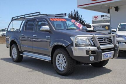 2012 Toyota Hilux KUN26R MY12 SR5 Double Cab Charcoal Grey 5 Speed Manual Utility
