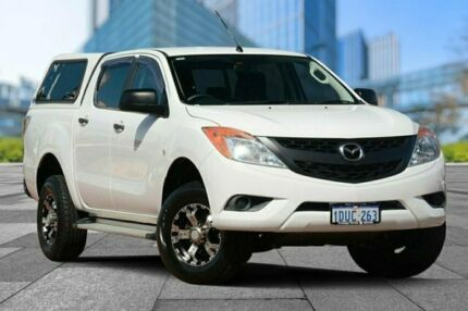 2011 Mazda BT-50 UP0YF1 XT 4x2 Hi-Rider White 6 Speed Sports Automatic Utility Myaree Melville Area Preview