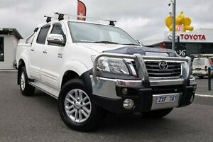 2013 Toyota Hilux KUN26R MY14 SR5 Xtra Cab White 5 Speed Manual Utility Keysborough Greater Dandenong Preview