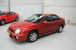 2000 Subaru Impreza N MY00 RX AWD Burgundy 4 Speed Automatic Sedan Maryville Newcastle Area Preview