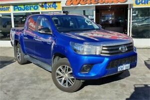 2015 Toyota Hilux GUN136R SR Hi-Rider Blue 6 Speed Automatic Dual Cab Utility Cannington Canning Area Preview