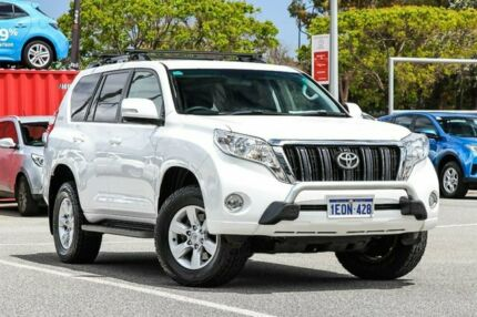 2014 Toyota Landcruiser Prado White Sports Automatic Wagon Welshpool Canning Area Preview