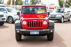 2014 Jeep Wrangler JK MY2014 Unlimited Sport Red 5 Speed Automatic Softtop Cannington Canning Area Preview