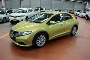 2012 Honda Civic 9th Gen VTi-L Yellow 5 Speed Sports Automatic Hatchback Maryville Newcastle Area Preview