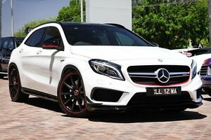 2015 Mercedes-Benz GLA 45 AMG 4MATIC X156 806MY AMG SPEEDSHIFT DCT 4MATIC White 7 Speed Osborne Park Stirling Area Preview